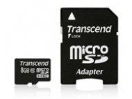 TRANSCEND MICRO SD 8GB + SD adapter TS8GUSDHC10