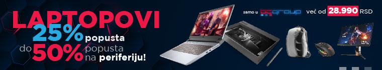 Laptopovi + periferija do 50% popusta
