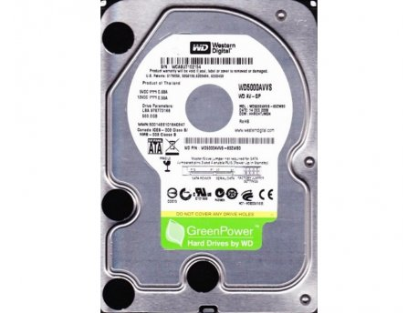 WESTERN DIGITAL 500GB+ SATA II 8MB 7.200rpm WD5000AVVS Green Power