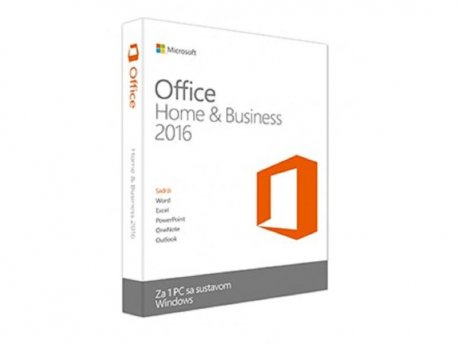 MICROSOFT Office Home and Business 2016 32/64 Serbian Latin CEE Only EM DVD P2 (T5D-02721)