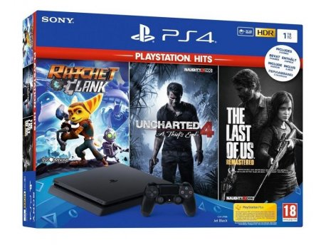 SONY Playstation 4 1TB + 3 Playstation Hits Igre
