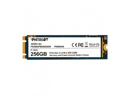 PATRIOT SSD M.2 NVMe 256GB Patriot Scorch 1700MBs/780MBs PS256GPM280SSDR