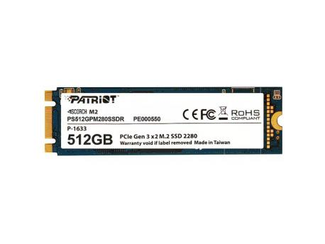 PATRIOT SSD M.2 NVMe 512GB Patriot Scorch 1700MBs/950MBs PS512GPM280SSDR