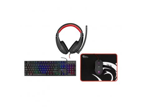 WHITE SHARK TASTATURA+MIŠ+PAD+HEADSET  GC 4102 COMANCHE 4 in 1