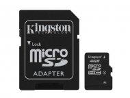 KINGSTON MICRO SD  4GB + SD adapter SDC4/4GB