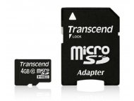 TRANSCEND MICRO SD  4GB + SD adapter TS4GUSDHC10