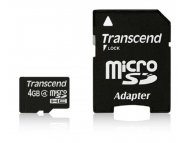 TRANSCEND MICRO SD  4GB+ SD adapter TS4GUSDHC4