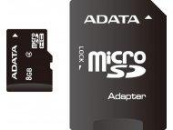 ADATA MICRO SD  8GB + SD adapter AUSDH8GCL4-RA1