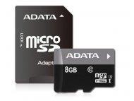 ADATA MICRO SD  8GB AData + SD adapter AUSDH8GUICL10-RA1