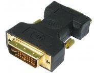 BC GROUP Adapter DVI-I Dual Link (M) - VGA D-sub (F) crni
