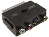 FAST ASIA Adapter Scart - 3xRCA + S-Video crni