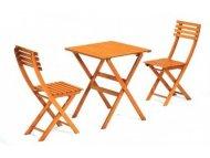 Bistro Bistro set -Sto+2 stolice drveni
