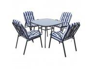 Bset Baštenski set VENETO -Sto + 4 stolice metalni