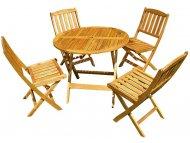 BSET Baštenski set-Sto + 4stolice drveni