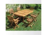 BSET Baštenski set-Sto + 6 stolica drveni