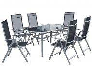 OSTALI Bastenski set CORSICA - Sto + 6 stolica metalni