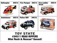 TOY STATE Igr. Autic Road Rippers Mini Rush & Rescue 11 cm SORTO (34511)