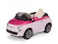 Per Perego Auto na akumulator Fiat 500 6v sa daljinskim upravljačem Rosa/Fucsia