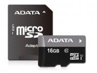 ADATA UHS-I MicroSDHC 16GB class 10 + adapter AUSDH16GUICL1085-RA1