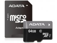 ADATA UHS-I MicroSDXC 64GB class 10 + adapter AUSDX64GUICL10-RA1