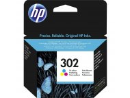 HP HP 302 Tri-color Original Ink Cartridge (F6U65AE)