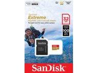 SANDISK MEM MICROSD 32GB Sandisk Extreme + adapter (SDSQXAF-032G-GN6AA)