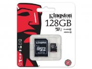 KINGSTON MICRO SD.128GB + SD adapter SDCS/128GB