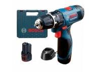 BOSCH PLAVI ALAT Akumulatorska vibraciona bušilica-odvrtač Bosch GSB 120-Li; 2x1,5Ah (06019F3006)