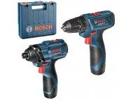 BOSCH PLAVI ALAT GSR 120-Li + GDR 120-Li, Akumulatorski set bušilica