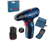 Bosch plavi alat GSR 120 LI 2x2AH + SET 1/23