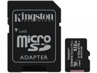 KINGSTON A1 MicroSDXC 512GB 100R class 10 SDCS2/512GB + adapter