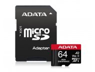 A DATA UHS-I U3 MicroSDXC 64GB V30S class 10 + adapter AUSDX64GUI3V30SHA2-RA1