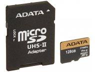 A DATA UHS-II U3 MicroSDXC 128GB class 10 + adapter AUSDX128GUII3CL10-CA1