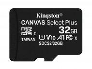 KINGSTON MicroSDHC 32GB Class 10 U1, 100MB/s-10MB/s, SDCS2/32GBSP