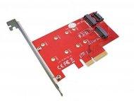 OSTALI Kontroler NEWMB Dual M.2 SSD na PCIE, N-PEM22