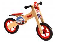 YUGO Wooden Balance Bike Red