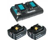 MAKITA SET 10 18V DC18RD punjač + BL18502 baterije 5Ah
