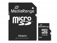 Mediarange Memorijska kartica MicroSDHC 16GB MR958 + SD adapter C10