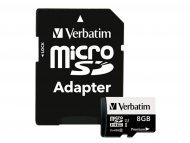 VERBATIM Memorijska kartica microSD 8GB+adapter class10