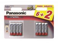 PANASONIC Baterije LR03EPS/8BW-AAA 8kom Alkalne Everyday