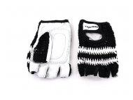 CAPRIOLO Sportske rukavice - retro crochet dizajn  crne 185116-C