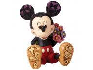 JIM SHORE Mickey Mouse with Flowers Mini Figure